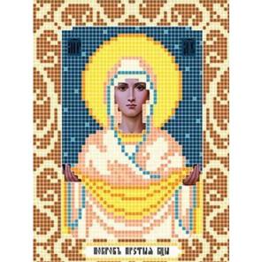 Богородица Покрова Ткань для вышивания с нанесенным рисунком Божья коровка 0073