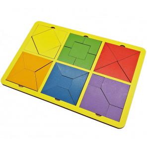 Собери квадрат 6 фигур (уровень 1) Игра логическая 6301331