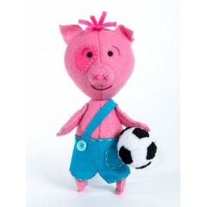Поросенок футболист Набор для создания игрушки своими руками