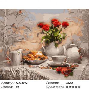 Сложность и количество цветов Домашний уют зимой Раскраска картина по номерам на холсте GX31092
