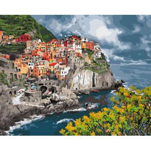 Итальянское побережье Раскраска картина по номерам на холсте Z-GX29397