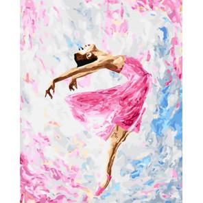 Танцующая балерина Раскраска картина по номерам на холсте Z-GX29767