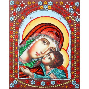 Умиление Пресвятой Богородицы Алмазная картина фигурными стразами IF014