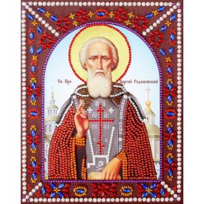 Святой преподобный Сергий Радонежский Алмазная картина фигурными стразами IF011