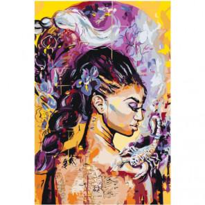 Девушка абстракция Раскраска картина по номерам на холсте