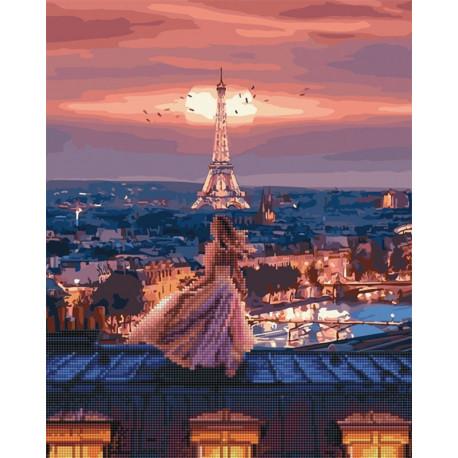 GZS1064 Крыши Монмартра Алмазная картина-раскраска по ...