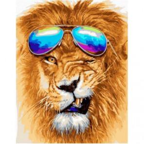 Модный лев Раскраска картина по номерам на холсте