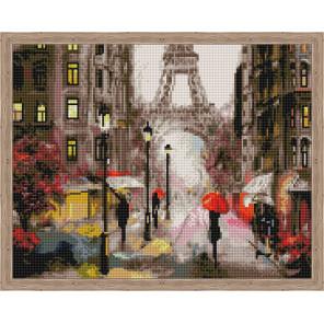 Романтика в Париже Алмазная мозаика на подрамнике QA204022