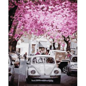 Цветущий город Раскраска картина по номерам на холсте Z-GX31972