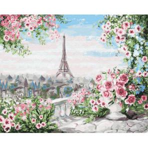 Романтичный вид из окна Раскраска картина по номерам на холсте Z-GX31675