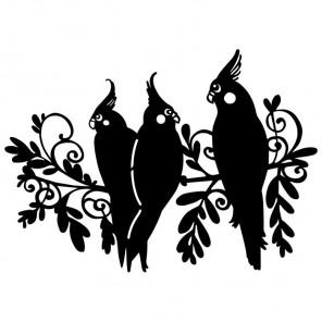 Три птицы Трафарет-силуэт Marabu ( Марабу )