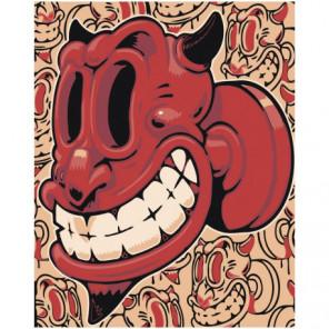 Diablo rojo Раскраска картина по номерам на холсте