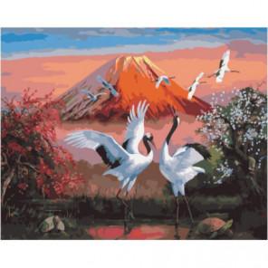 Перелет аистов Раскраска картина по номерам на холсте