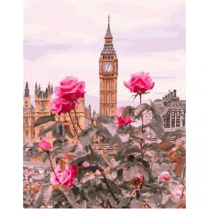 Лондонские розы Раскраска картина по номерам на холсте