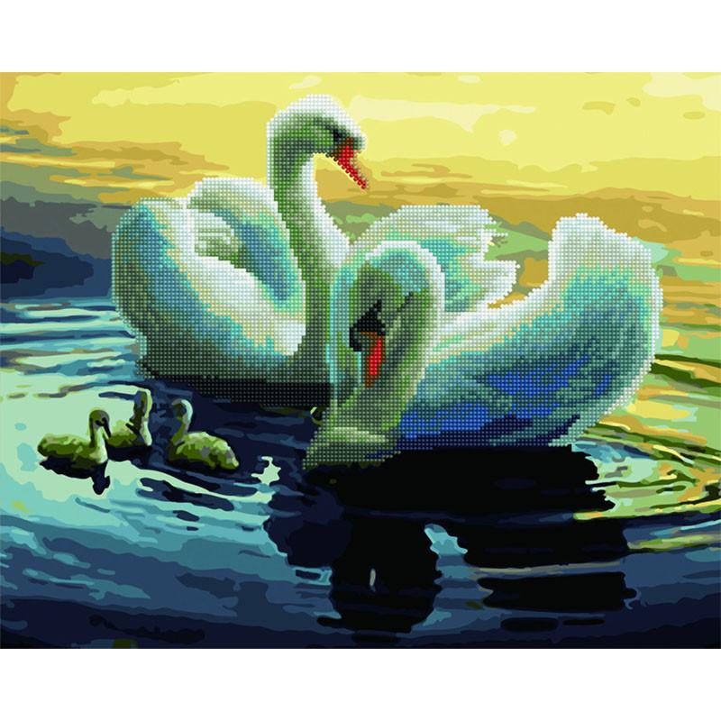 GZS1096 Лебеди Алмазная картина-раскраска по номерам на ...