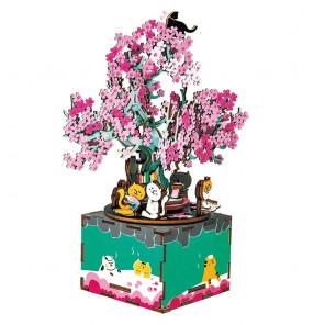 Цветущая сакура 3D Пазлы Деревянные AM409