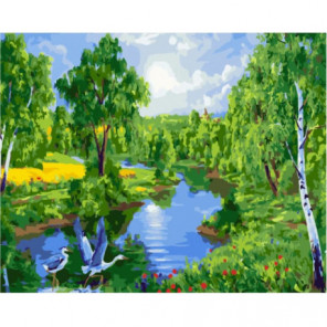 Летний полдень Раскраска картина по номерам на холсте