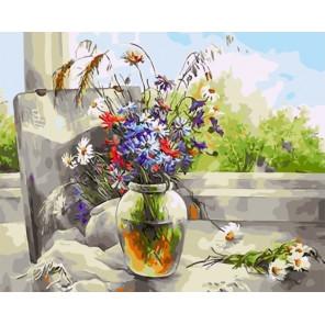 Букет полевых цветов Раскраска картина по номерам на холсте GX33993