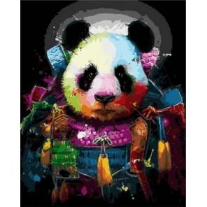 Панда в ярких красках Раскраска картина по номерам на холсте MCA878