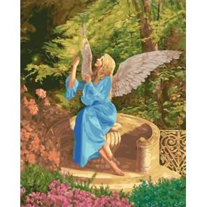 Ангел в саду Раскраска картина по номерам на холсте МСА610