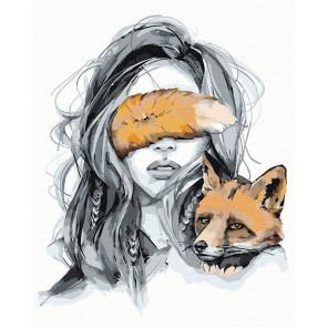Оберег. Лисица Раскраска картина по номерам на холсте AAAA-NP2-80x100