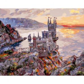 Крым. Ласточкино гнездо Раскраска картина по номерам на холсте 265-AB