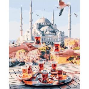 Чаепитие в Стамбуле Раскраска картина по номерам на холсте GX34798