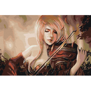 Игра на скрипке Раскраска картина по номерам на холсте AAAA-FIR116