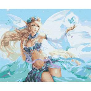 Цветочная фея и бабочки Раскраска картина по номерам на холсте AAAA-FIR118-100x125