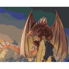 Красный дракон Раскраска картина по номерам на холсте AAAA-GDS114-80x100