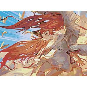 Огненные волосы Раскраска картина по номерам на холсте AAAA-PFIR119