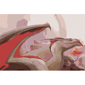 Пещерный дракон Раскраска картина по номерам на холсте AAAA-GDS115-80x120