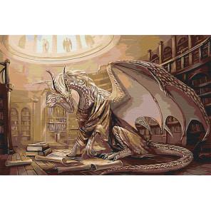 Мудрый дракон Раскраска картина по номерам на холсте AAAA-GDS116-80x120