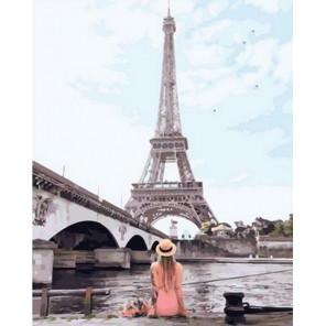 Отдых у парижского канала Раскраска картина по номерам на холсте GX36200