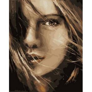 Милый взгляд Раскраска картина по номерам на холсте PK68060
