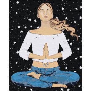 Медитация Раскраска картина по номерам на холсте AAAA-DV05-100x125