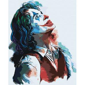 Джокер Раскраска картина по номерам на холсте с неоновыми красками AAAA-RS010-100x125