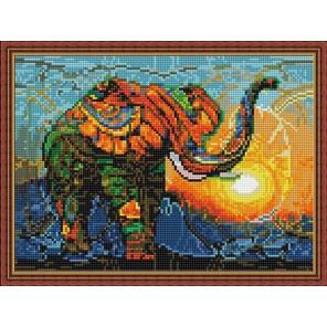 Слон на закате Алмазная вышивка мозаика на подрамнике EQ10285