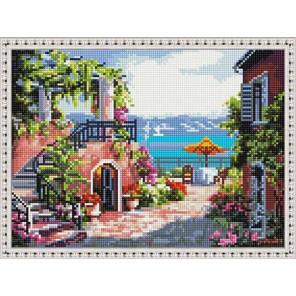 Итальянский дворик Алмазная вышивка мозаика на подрамнике EQ10336