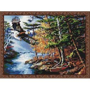 Орел над ручьем Алмазная вышивка мозаика на подрамнике EQ10315