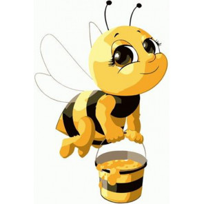 Трудолюбивая пчелка Раскраска картина по номерам на холсте PKD72064