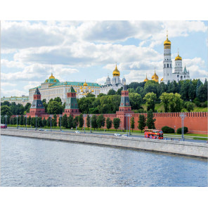 Москва. Кремль Алмазная мозаика вышивка на подрамнике Molly KM0668