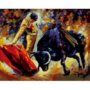Коррида Раскраска картина по номерам на холсте MG03
