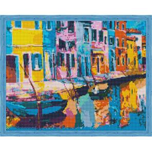 Радужная Венеция Алмазная мозаика на подрамнике QA204137
