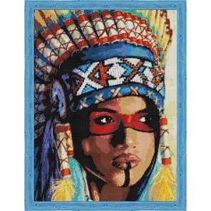 Индианка Алмазная мозаика на подрамнике QR200008