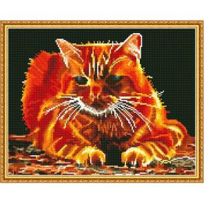 Огненный Алмазная мозаика вышивка на подрамнике Molly KM0632