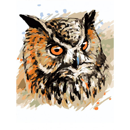 ME1123 Мудрая сова Раскраска картина по номерам на холсте ...