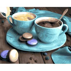 Ароматный кофе с печеньем Раскраска картина по номерам на холсте GX30350
