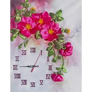Часы Акварель Набор для вышивания лентами и бисером часов FeDi ЛП5605
