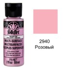 2940 Розовый Для любой поверхности Акриловая краска Multi-Surface Folkart Plaid